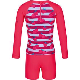Regatta Valo Rash Traje de Baño Niños, rosa/blanco